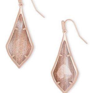 NWT Kendra Scott Olivia Rose Gold Drop Earrings